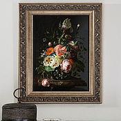 Картины и панно handmade. Livemaster - original item Picture: Flemish floral still life. Handmade.