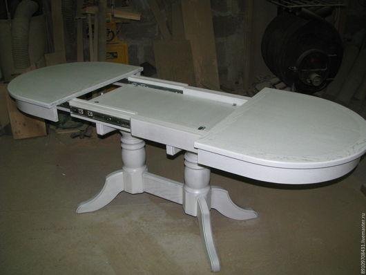 Мебель ручной работы. Ярмарка Мастеров - ручная работа. Купить Стол обеденный. Handmade. Белый