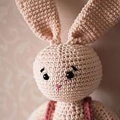 Мягкие игрушки ручной работы. Ярмарка Мастеров - ручная работа Игрушка зайчик. Handmade.