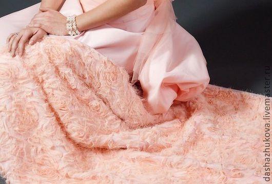 """Платья ручной работы. Ярмарка Мастеров - ручная работа. Купить """"Кремовая роза"""". Handmade. Бледно-розовый, шикарное платье, шлейф"""