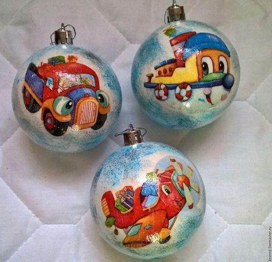 Новый год 2017 ручной работы. Ярмарка Мастеров - ручная работа. Купить набор шаров ёлочных. Handmade. Комбинированный, елочные шары