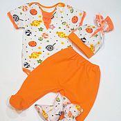 """Работы для детей, ручной работы. Ярмарка Мастеров - ручная работа Комплект для новорожденной девочки """"Sweet Baby"""". Handmade."""