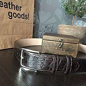 handmade. Livemaster - original item Belt from genuine crocodile leather.. Handmade.