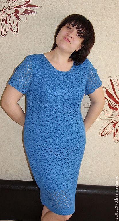 Платья ручной работы. Ярмарка Мастеров - ручная работа. Купить Летнее ажурное платье. Handmade. Синий, платье ажурное