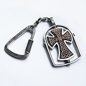 Сумки и аксессуары handmade. Livemaster - original item keychain: Orthodox keychain silver