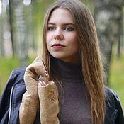 Аксессуары handmade. Livemaster - original item Women`s felted mitts