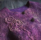 """Одежда handmade. Livemaster - original item Жилет валяный """"Черничный блюз"""". Handmade."""