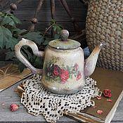 """Для дома и интерьера ручной работы. Ярмарка Мастеров - ручная работа """"Отвори потихоньку калитку..."""" Интерьерный чайничек. Handmade."""