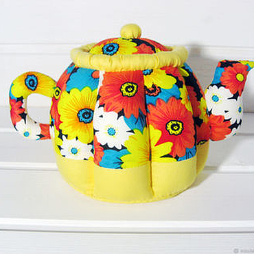 Куклы и игрушки ручной работы. Ярмарка Мастеров - ручная работа Текстильный чайник тильда. Handmade.