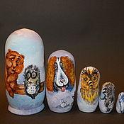 Русский стиль handmade. Livemaster - original item Matryoshka hedgehog in the Fog. Handmade.