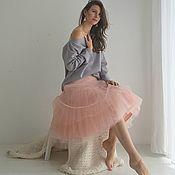 Одежда ручной работы. Ярмарка Мастеров - ручная работа Юбка с фатином многоярусная. Handmade.