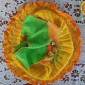Работы для детей, ручной работы. Ярмарка Мастеров - ручная работа Ажурное хлопковое платье для девочки связанное крючком. Handmade.