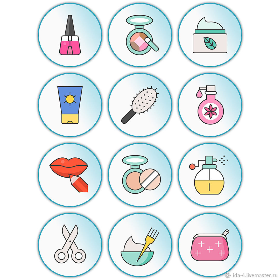 'Salon ' Icons for instagram, Illustrations drawings, Permian,  Фото №1