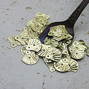 Материалы для творчества handmade. Livemaster - original item Sequins 12 mm gold shell 2 gr curly. Handmade.