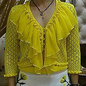 Одежда ручной работы. Ярмарка Мастеров - ручная работа Желтая блузка-болеро и топ. Сладкая парочка.. Handmade.