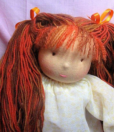 Вальдорфская игрушка ручной работы. Ярмарка Мастеров - ручная работа. Купить Вальдорфская кукла-девочка 36-40см. Handmade. хлопок