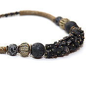 Украшения handmade. Livemaster - original item Necklace Black stone necklace black beads short choker with black stones. Handmade.