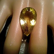 Бусины ручной работы. Ярмарка Мастеров - ручная работа Крупный, натуральный золотой цитрин, 20,94кт.. Handmade.