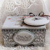 Подарки к праздникам handmade. Livemaster - original item Christmas set candy dish and a medallion