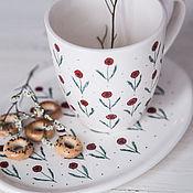 Посуда handmade. Livemaster - original item Poppy meadow. Mug handmade ceramics. Handmade.