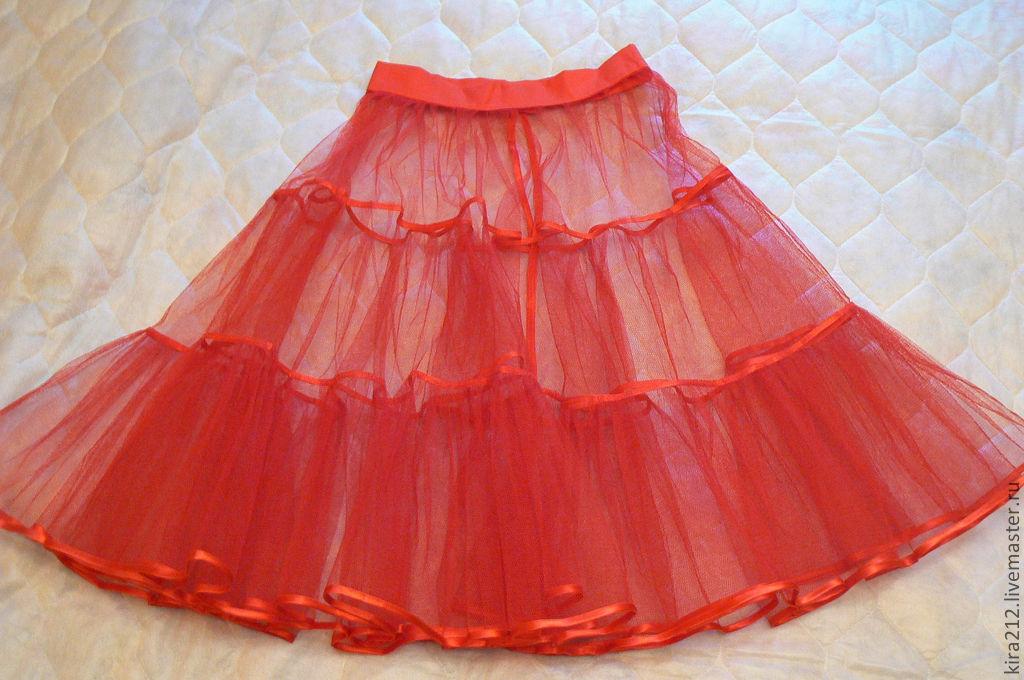 Как сшить нижнюю юбку из фатина для бального платья