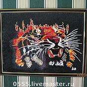 Картины и панно ручной работы. Ярмарка Мастеров - ручная работа картина огненный тигр. Handmade.