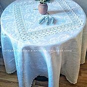 Для дома и интерьера handmade. Livemaster - original item Tablecloth white linen 100%