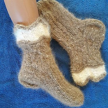 Аксессуары handmade. Livemaster - original item Socks from dog down (wool). Handmade.