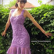 Ирландское кружево платья сиреневое
