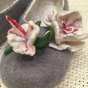 Обувь ручной работы. Ярмарка Мастеров - ручная работа Тапочки Опять зима(повтор). Handmade.