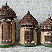 Посуда handmade. Livemaster - original item Set of jars for spices. A set of houses for the fairies.. Handmade.