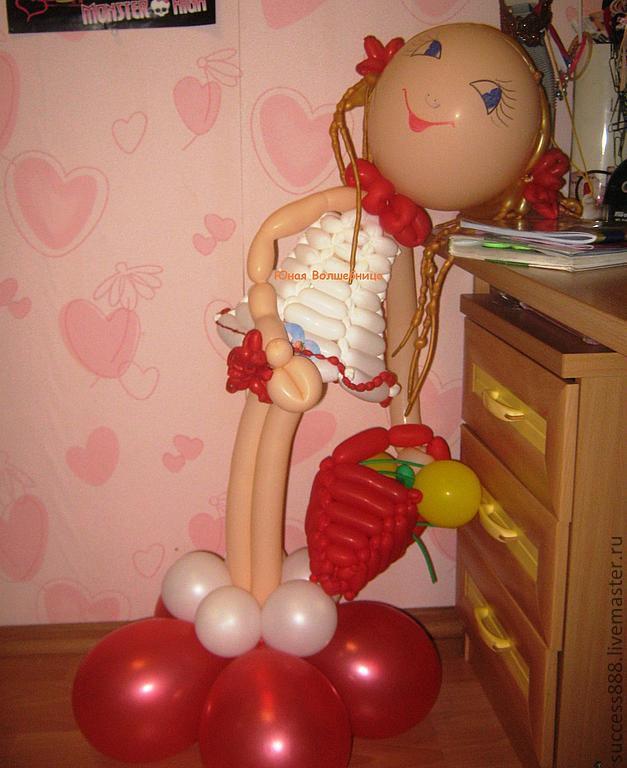 Девушка из воздушных шаров своими руками 82