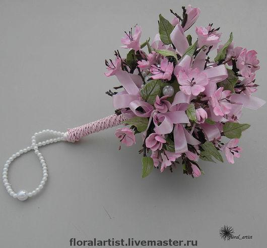 """Свадебные цветы ручной работы. Ярмарка Мастеров - ручная работа. Купить букет невесты """"Сакура"""" (цветы ручной работы). Handmade."""