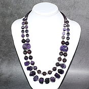 Украшения handmade. Livemaster - original item Elegant necklace natural amethyst. The author`s work. Handmade.