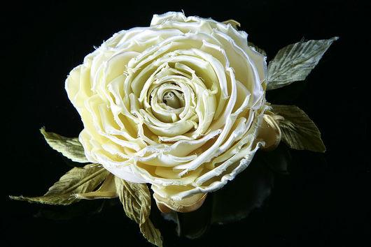 Свадебные украшения ручной работы. Ярмарка Мастеров - ручная работа. Купить Роза брошь-заколка. Handmade. Роза, чайная роза