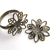 Материалы для творчества handmade. Livemaster - original item Base for rings and filigree. Handmade.