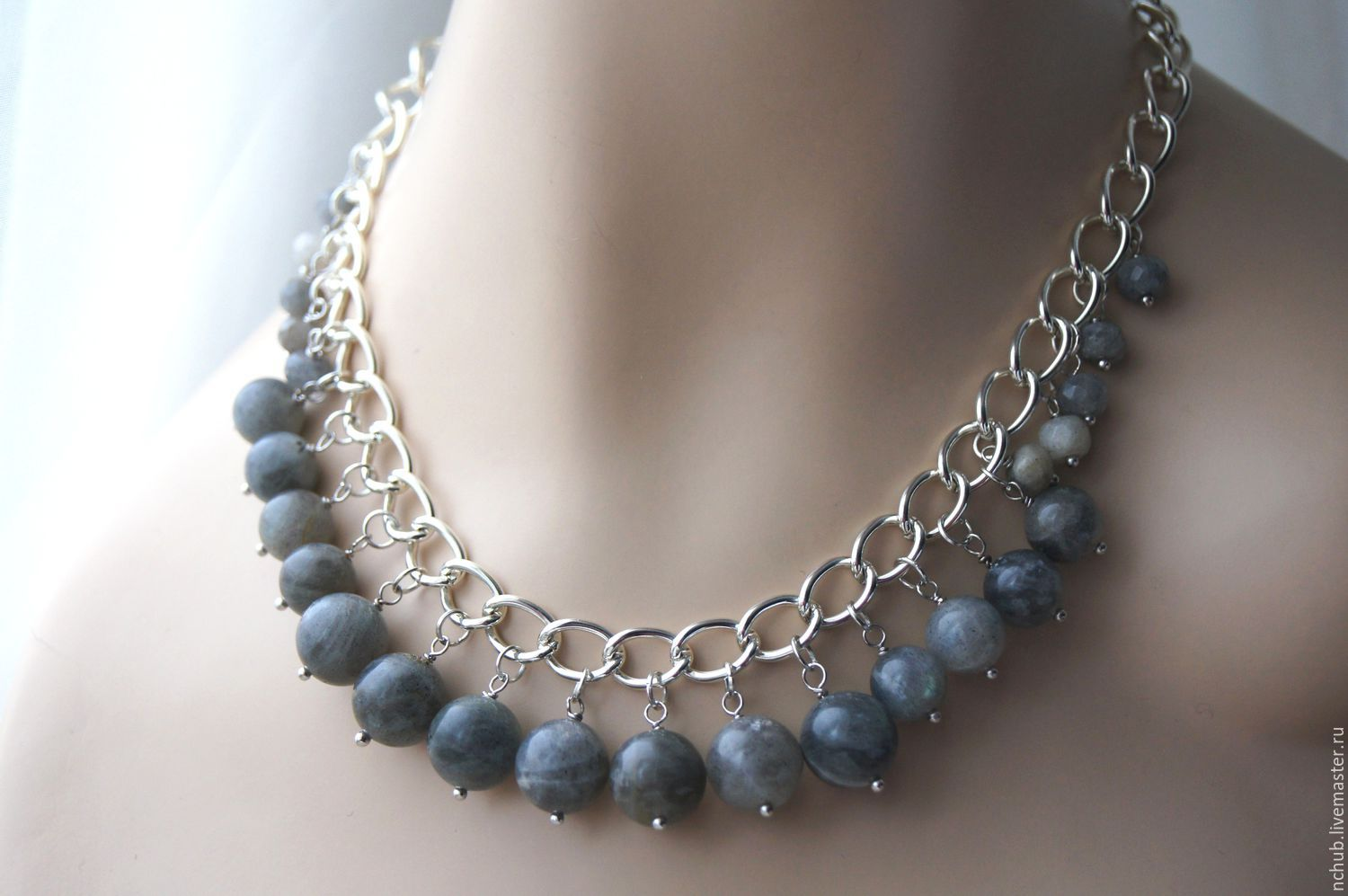 Jewelry Sets handmade. Livemaster - handmade. Buy Jewelry set, necklace chain and earrings with natural labradorite.