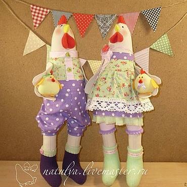 Куклы и игрушки ручной работы. Ярмарка Мастеров - ручная работа Свадебные игрушки петух и курица . птица. Handmade.