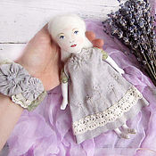 Куклы и игрушки ручной работы. Ярмарка Мастеров - ручная работа Комплект бохо – кукла и браслет. Handmade.