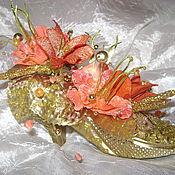 """Цветы и флористика ручной работы. Ярмарка Мастеров - ручная работа композиция """"Туфелька для золушки"""". Handmade."""
