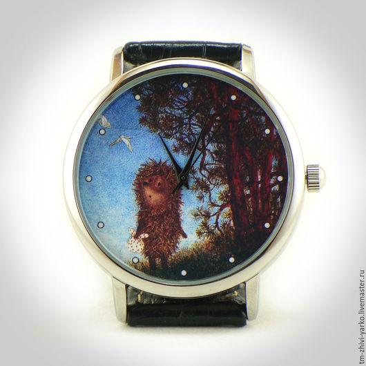 """Часы ручной работы. Ярмарка Мастеров - ручная работа. Купить Часы наручные женские """"Ёжик в тумане"""". Handmade. Часы"""