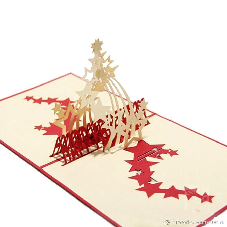 Фейерверк С Днём Рождения (Happy Birthday) - 3D открытка ручной работы, Открытки, Москва,  Фото №1