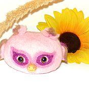 Мягкие игрушки ручной работы. Ярмарка Мастеров - ручная работа Совенок Розочка ,сова  из шерсти, войлок. Handmade.
