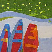 """Картины и панно ручной работы. Ярмарка Мастеров - ручная работа """"Лодочки"""". Валерий Филиппов.. Handmade."""