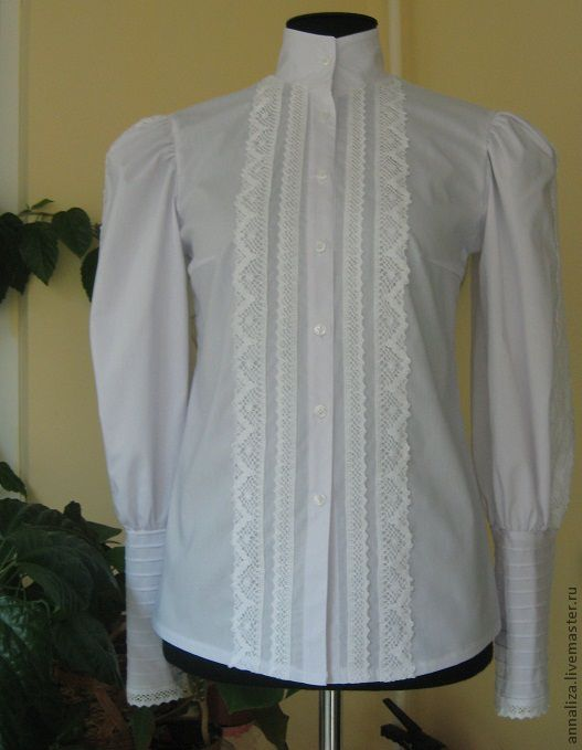 blouse made of cotton, victorian style, Blouses, Moscow,  Фото №1