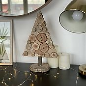 Подарки к праздникам handmade. Livemaster - original item Christmas tree made of big slices. Handmade.