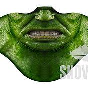 Одежда ручной работы. Ярмарка Мастеров - ручная работа Ветрозащитная маска Халк. Handmade.