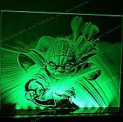 Картины и панно ручной работы. Ярмарка Мастеров - ручная работа Мастер Йода Yoda Star Wars. Handmade.