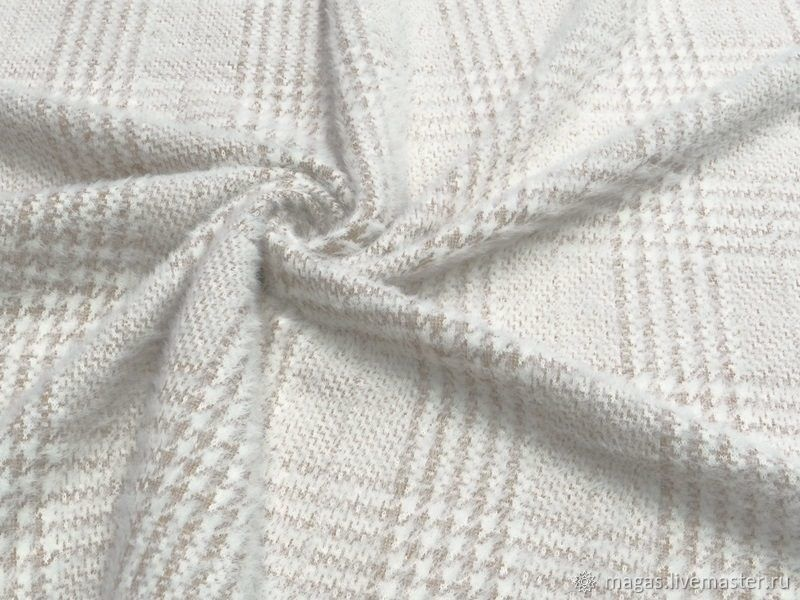 KNIT ANGORA CAGE -BEIGE - ITALY, Fabric, Moscow,  Фото №1