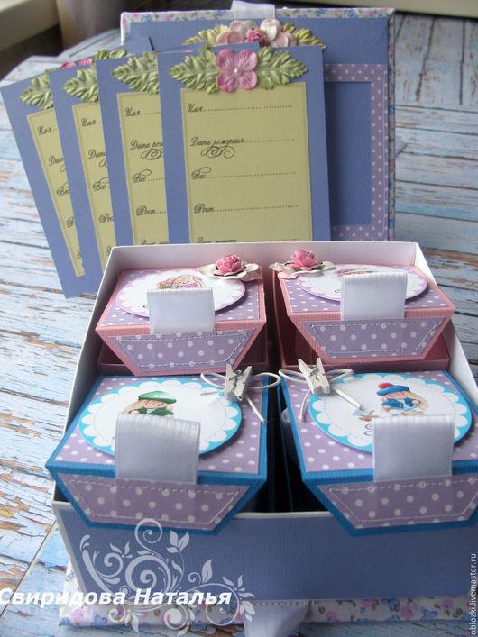 """Подарки для новорожденных, ручной работы. Ярмарка Мастеров - ручная работа. Купить Мамины сокровища коробочка для 4 деток с зайками """"Ми"""". Handmade."""
